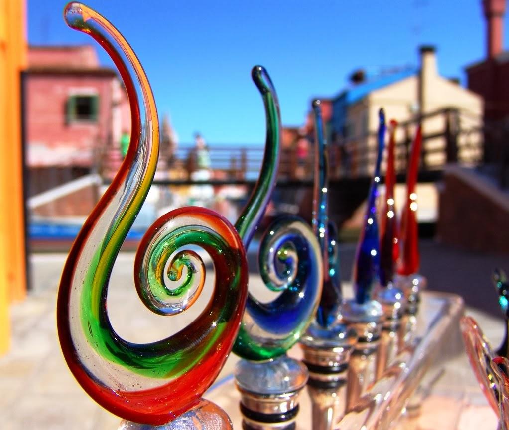 Peças de vidro produzidos na Ilha Murano em Veneza na Itália