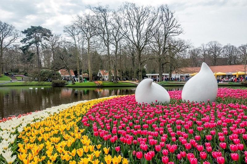 Flores e jardins na Holanda