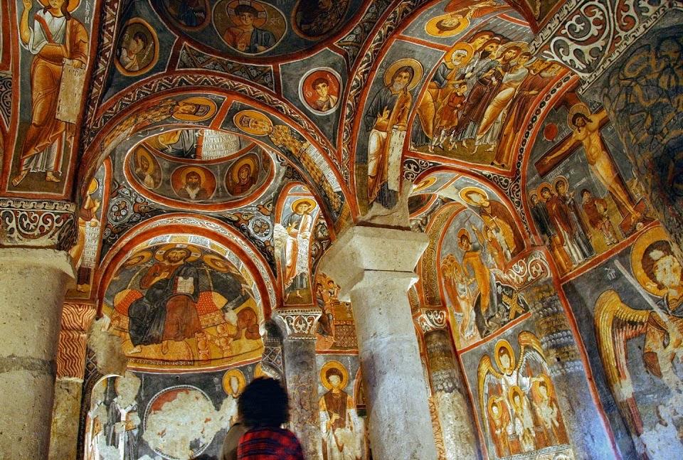 Igreja no Museu a Céu Aberto de Goreme na Capadócia