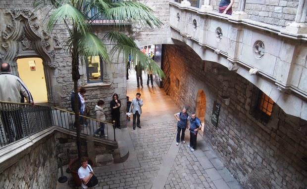 Visitantes no Museu Picasso de Barcelona