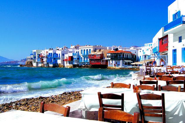 Cidade de Chora na Grécia