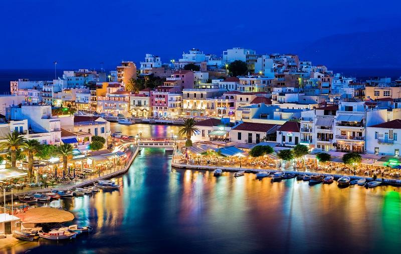 Cidade de Creta na Grécia