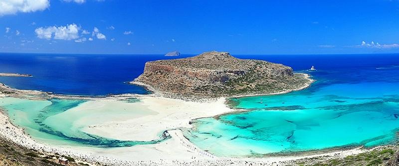 Praia de Balos na ilha de Creta
