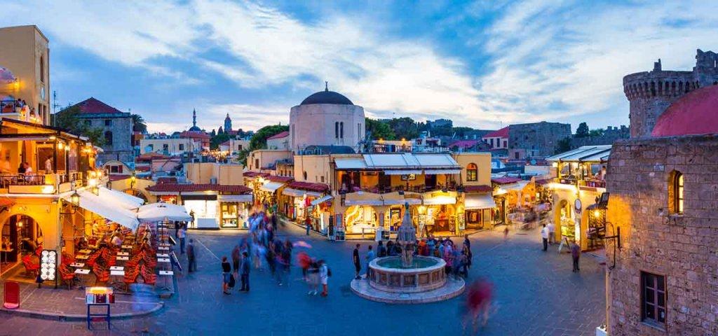 Cidade de Rodes na Grécia