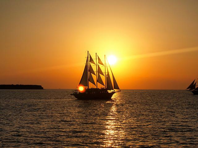 Pôr do sol em Santorini | Grécia