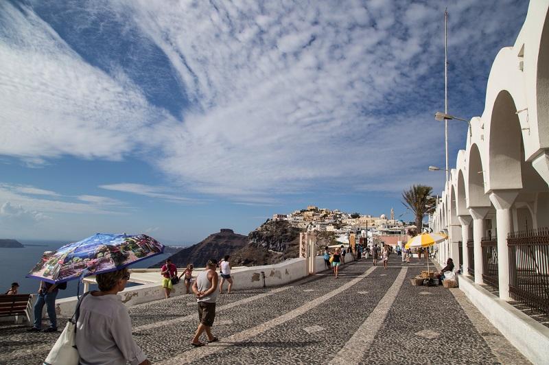 Rua em Santorini