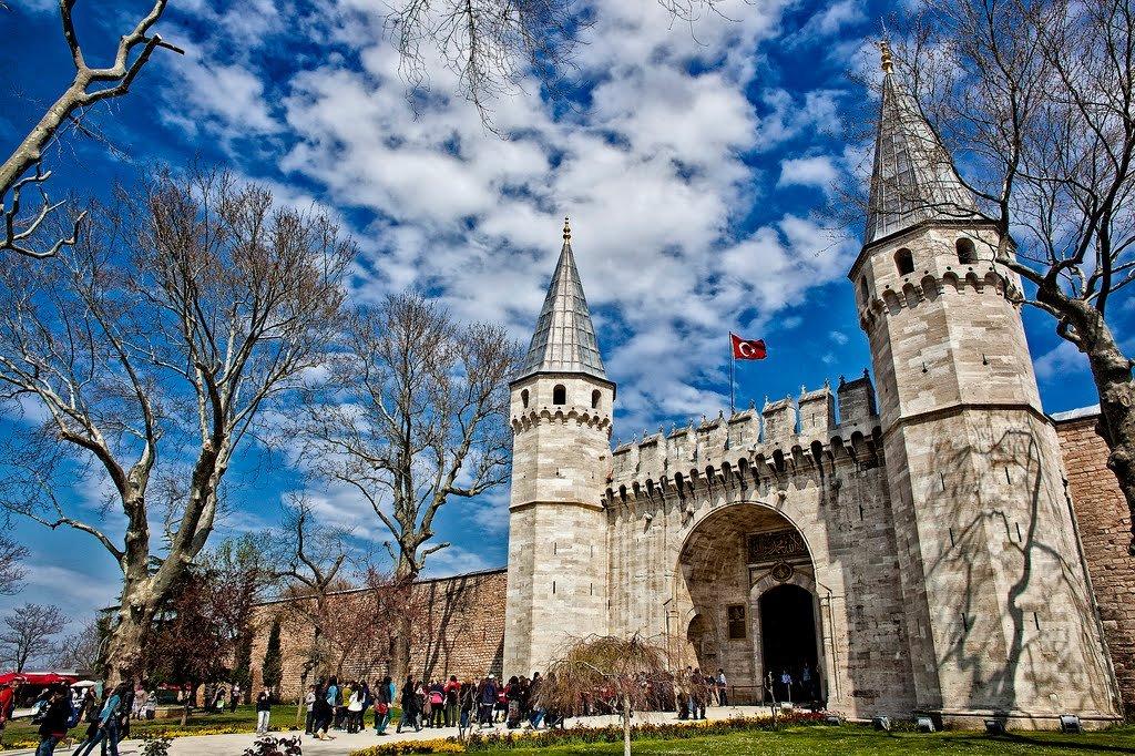 Palácio Topkapi em Istambul na Turquia